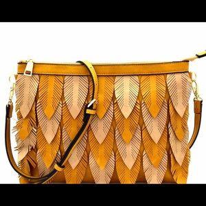 Handbags - Two-Tone Leaf Clutch